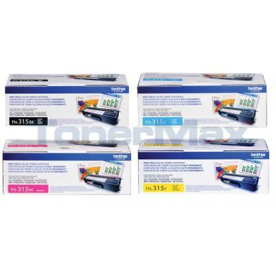 BROTHER HL-4150CDN TONER BUNDLE: BLACK, CYAN, MAGENTA, YELLOW
